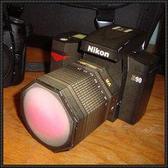 Nikon D90 Camera Paper Model Free Download - http://www.papercraftsquare.com/nikon-d90-camera-paper-model-free-download.html