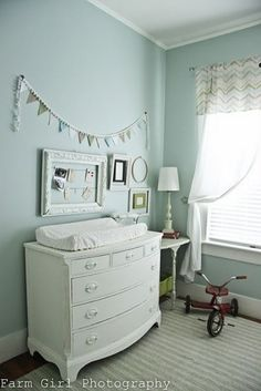 Like the frame above the changing table. Could pin verses to look at while I'm changing baby!