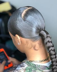hairstyles for 9 year olds curly hairstyles for quinceaneras hairstyles hairstyles little girl hairstyles diy to natural curly hairstyles african american hairstyles tutorial hairstyles male Slicked Back Ponytail, Hair Ponytail Styles, Weave Ponytail Hairstyles, Black Girl Braided Hairstyles, 50s Hairstyles, Sleek Ponytail, Baddie Hairstyles, Wedding Hairstyles, Celebrity Hairstyles