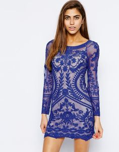 Image 1 of Goldie All Over Lace Body-Conscious Dress