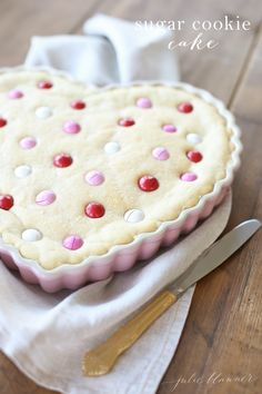 The best M&M cookie cake recipe for Valentine's Day or a birthday cake
