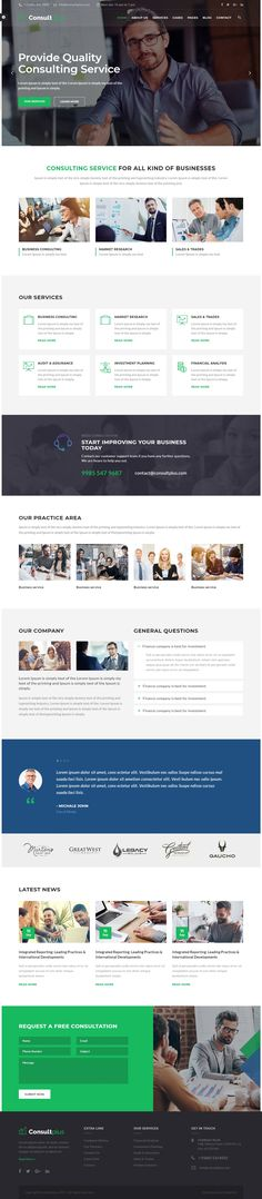 Consultplus is a modern and flexible WordPress business consulting theme specially crafted for all type of consulting business, finance business and startup company etc