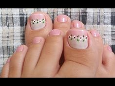 UNHAS DECORADAS PARA OS PÉS - YouTube Cute Toenail Designs, Pedicure Designs, Toe Nail Designs, Pedicure Nail Art, Toe Nail Art, Manicure And Pedicure, Pedicures, Sexy Nail Art, Pink Nail Art