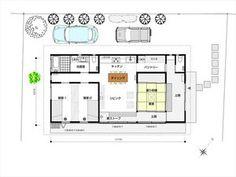 フラットハウス おしゃれな平屋住宅参考画像 間取り図まとめ 2 3