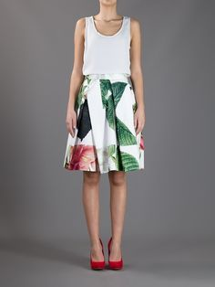 Vivienne Westwood Anglomania Liberty Skirt in White - Lyst