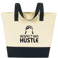 Now in stock!Roomy canvas bag, perfect for the beach, grocery store or whatever your daily hustle is.Logo on both sides.