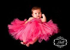 Pink / fuchsia tutu dress, tutu, baby tutu, tutu dress, newborn tutu, tutu halter dress.. $27.50, via Etsy.