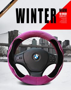 Stitch Yourshops Plush Cute Cartoon Steering Wheel Cover for Winter 1 Pack