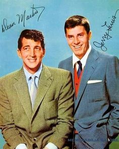 Comedy Team Jerry Lewis and Dean Martin Hollywood Icons, Vintage Hollywood, Hollywood Stars, Classic Hollywood, Jerry Lewis, Dean Martin, Classic Comedies, Classic Movies, Comedy Duos