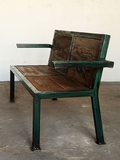 . Welded Furniture, Wood Pallet Furniture, Steel Furniture, Rustic Furniture, Vintage Furniture, Furniture Design, Outdoor Furniture, Metal Chairs, Patio Chairs