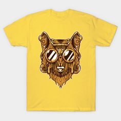 Steampunk Wolf with Goggles - Wolf - T-Shirt | TeePublic.  Cool wolf wearing steampunk style mask and accessories. He looks so handsome with goggles on his large head. Wolf T Shirt, Steampunk Fashion, Handsome, Cool Stuff, Mens Tops, How To Wear, Shirts, Accessories, Style