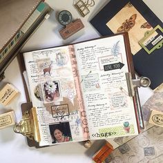 Pages from last week - week 8 . #Midoritravelersnotebook #travelersnotebook #travelersnote #notebook #planner #plannerpages #agenda #diary #journal #bujo #bulletjournaling #journalpages #stationery