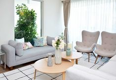 living comedor nordico femenino Sofa, Couch, Living Area, Living Rooms, Nordic Style, Great Rooms, Home Crafts, Office Decor, Love Seat