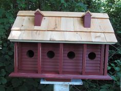 Large Rustic Bird Houses | Large Purple Martin Birdhouse Plantation Style by birdhouseaccents on ...