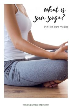 """Are you wondering """"what is yin yoga?"""" (Hint: it's PURE magic✨). Read this piece for a total break down all of the benefits of yin yoga! Yin Yoga Benefits, Yin Poses, Yin Yoga Sequence, Home Yoga Practice, Yoga Bolster, Yoga Pictures, Yoga Block, Beach Yoga, Yoga For Flexibility"""