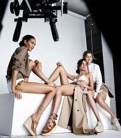 Gigi Hadid, Joan Smalls i Lily Aldridge nago w nowej kampanii Stuarta Weitzmana!