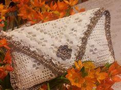 Beyaz dantel el örgüsü çanta modelleri
