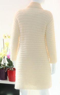 Ivory crochet cardigan Crochet cardigan Mohair crochet | Etsy Mohair Yarn, Mohair Sweater, Sweater Coats, Sweaters, Knit Shrug, Crochet Cardigan, Knitted Shawls, Bridal Bolero, Wedding Shawl