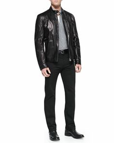 7158f42c8 22 Best Mens classic leather Jackets images | Man fashion, Leather ...