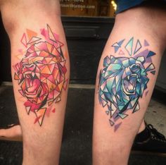 This gorilla and bear pair.   30 Best Friend Tattoos That Will Make You Want To Call Your Bros