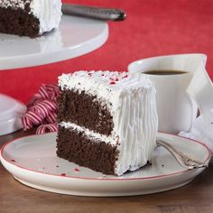 Holiday Chocolate Peppermint Layer Cake. Gluten and dairy-free. Crazy good cake!