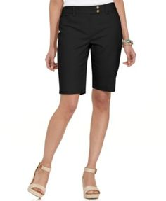 Charter Club Flat-Front Bermuda Shorts