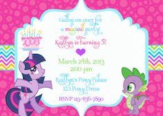My Little Pony Birthday Invitation Wording