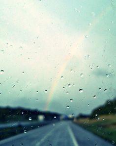blue sky, rain, and rainbow kép