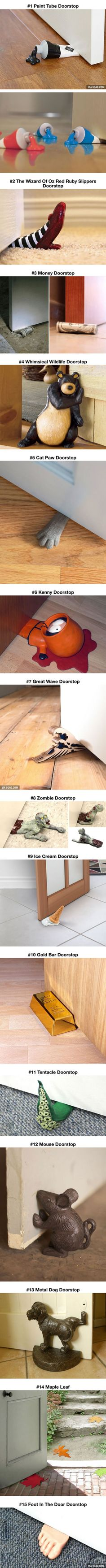 "15 Fun Doorstops. They need to add a Hodor ""Hold The Door"" stop for all of us GoT nerds out there! :)"