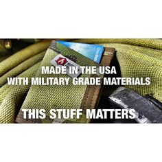 I use Mil-Spec binding and elastic on all my products because it's made here in the USA and it's made to a higher standard. The quality/grade of mil-spec materials means it's going to cost more for me but when you're making durable #edc items it's important they're built right the first time