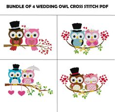 Wedding Cross Stitch Pattern Owl Cross Stitch by StitchValley