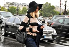 casual and chic and cool Floppy Hats, Street Style, Fashion Week, Pretty Little, Chic, Casual, Trending Fashion, Color, Shabby Chic