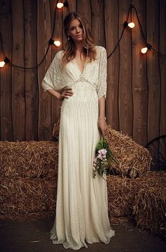 Say 'Yes!' to a boho wedding dress.
