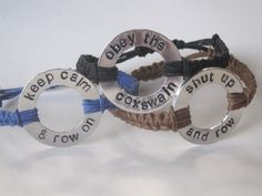 crew jewelry rowing bracelet crew washer bracelet by TumbleThreads, $18.00 I'm gonna get these for my crew :)