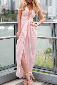 Sleeveless Maxi Charming Women Dress in Pink  http://hisandherfashion.com/products/sleeveless-maxi-charming-women-dress-in-pink