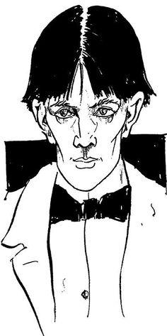 """Aubrey Vincent Beardsley - """"Autorretrato"""" 1892"""