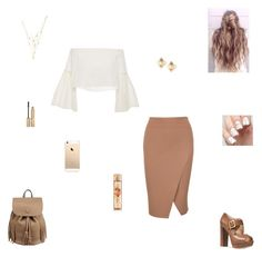 """""""pumpkin cupcake"""" by synclairel ❤ liked on Polyvore featuring Rosetta Getty, Michael Kors, Valentino, Ettika, Stila, Fall, cute, casual and ootd"""