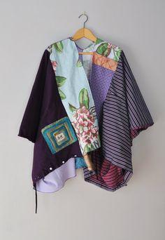 Reciclado personalizada KIMONO túnica por RebirthRecycling en Etsy
