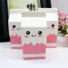Squishy Jumbo Pink Milk Bottle Box 11cm Slow Rising Soft Collection Gift Decor Toy Sale - Banggood Mobile