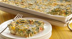Cheesy Egg and Spinach Casserole: A delicious addition to any brunch, this casserole is meaty, cheesy and colorful.