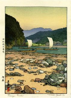 Tenryu River - by Toshi Yoshida, 1942 I own this one!