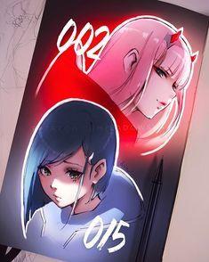 Zero Two & Ichigo are the best girls! Anime Art Girl, Manga Art, Anime Chibi, Kawaii Anime, Querida No Franxx, Character Art, Character Design, Estilo Anime, Zero Two