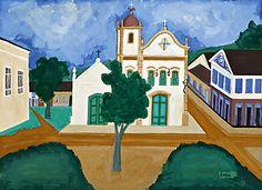 Soraia Cals Escritório de Arte | Leilão:Novembro de 2008  Título:Igreja de Sta. Rita – Paraty, RJ  Descrição: guache s/ papel, ass. inf. dir. (c. 1960)   48 x 66 cm