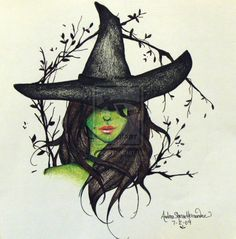Elphaba. by DreaEleanora on deviantART I wouldn't take my mini-obsession with TWWoTW quite this far, but it is a cool pic.