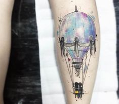 Balloon tattoo by Felipe Mello
