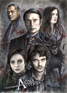 """animaeterna: """"Examples of my work: Hannibal Traditional Art - Watercolors & Pastel Pencils All commissions are traditionally painted with watercolors and pastel pencils. The client receives the..."""