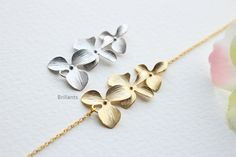 Orchid Flower Bracelet Everyday jewelry Bridesmaid jewelry