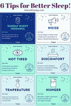 Not Sleeping at Night? Here are 6 Tips for Better Sleep to end your struggle with insomnia. #sleep #insomnia