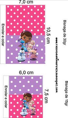 Doutora Brinquedos (Doc Mcstuffins) – Kit Completo com molduras para convites…