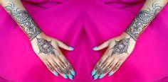 Hasil gambar untuk henna design for wedding simple